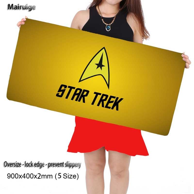 Mairuige 90X40CM Extra Large Mouse Pad Star Trek Logo Gaming
