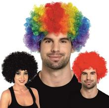 Clown Fans Carnival Wig Cosplay Circus Funny Fancy Dress Stage Do Fun Joker Adult Child Costume Afro Curly Hair Wig event props