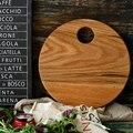 Креативный дубовый деревянный поднос с ручкой овальная индивидуальная Круглая Панель Антибактериальная Бытовая разделочная доска