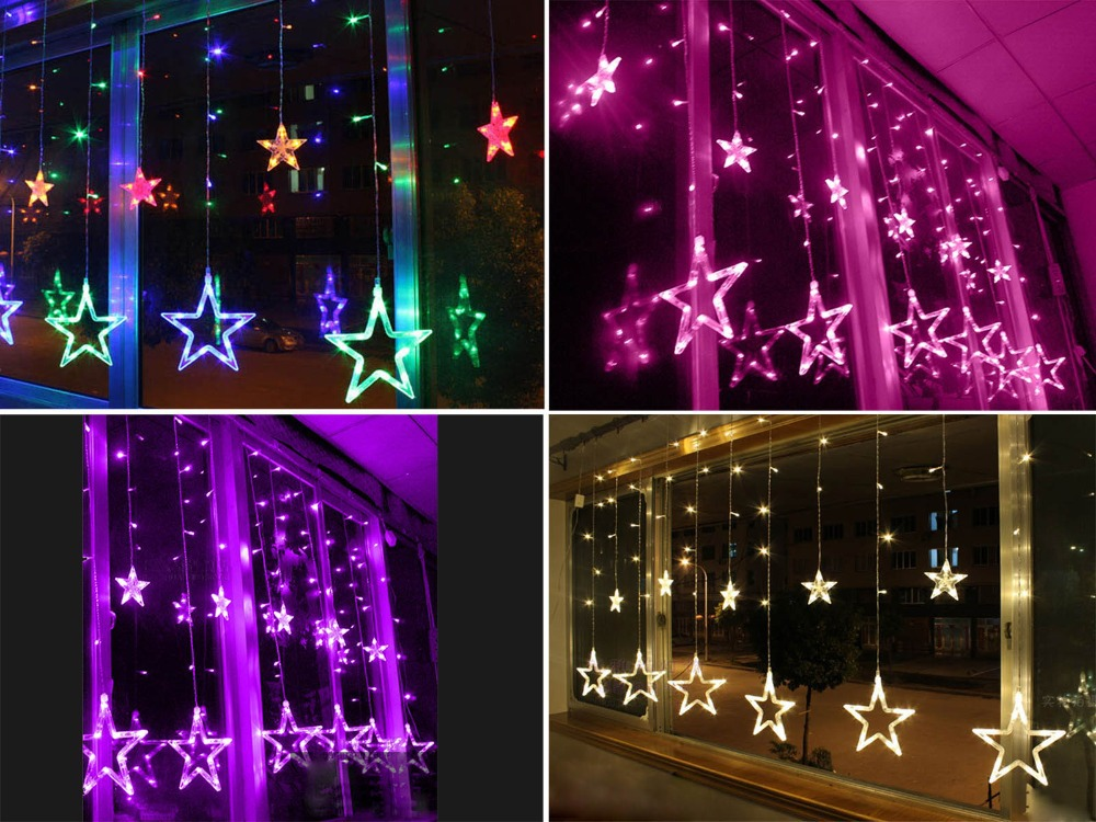 ac220 240v 138 leds strobe light christmas stars style decorative string light for christmas partys wedding new year decorations in holiday lighting from - Strobe Christmas Lights