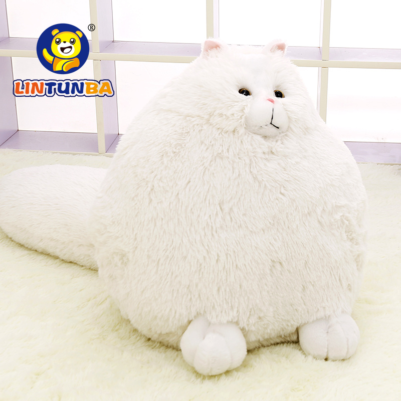 Fun Plush Fluffy Cats Persian Cat Toys Pembroke Pillow Soft Stuffed Animal Peluches Dolls Baby Kids Toys Gifts Brinquedos