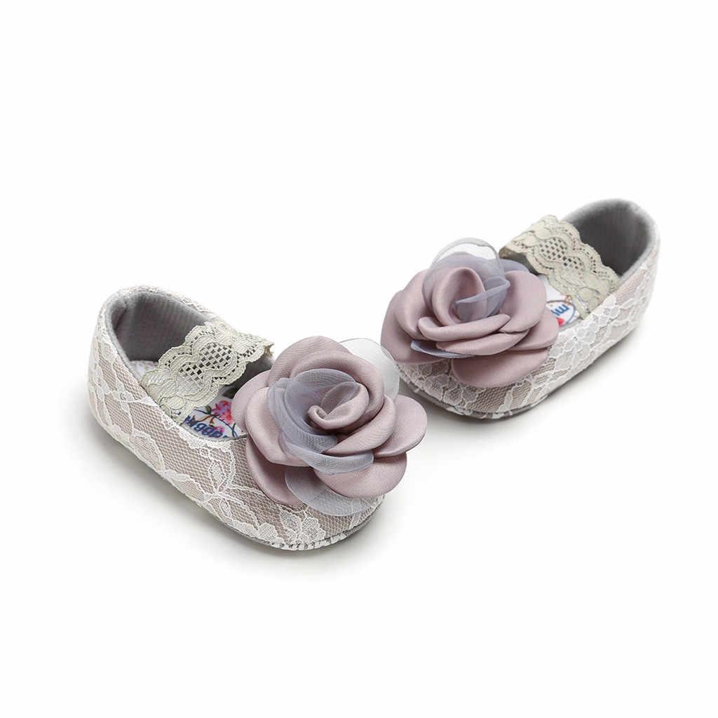 תינוק בנות נעלי רוז תחרה Cuty Pricess אופנה לפעוטות ראשון הליכונים קיד