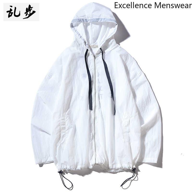 Verano protección solar hombres chaqueta coreana Casual hombres mujeres al aire libre rompevientos chaqueta sección delgada protección solar ropa de piel 2019 WW
