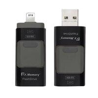 USB flash drive per iphone 7 più di apple Pen Drive 16g 32g 64g Android OTG Pendrive per sony huawei U Disk 3 in 1 memoria bastone
