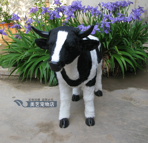 simulation cute cattle 100x33x65cm toy model polyethylene&furs cattle model home decoration props ,model gift d169 simulation cute sleeping cat 25x21cm model polyethylene