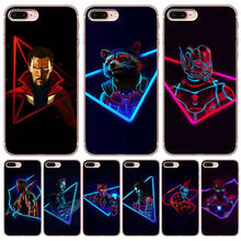 9d25af0ac9f Luxury Marvel For iPhone X XR XS Max 5 5S SE 6 6S 7 8 Plus Cover Case  Silicone Funda Coque Capinha Etui Iron Man Thor Rocket