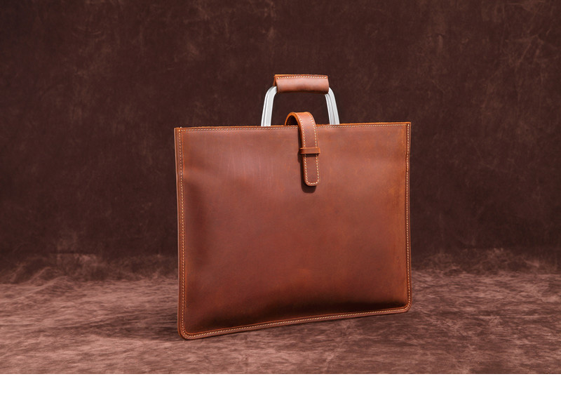 HTB1bl WIQyWBuNjy0Fpq6yssXXaC Genuine Leather Men's Handbags Crazy Horse Leather Man Retro Tote Bag Shoulder Messenger Bag Business Men Briefcase Laptop Bag