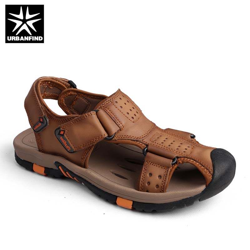New Arrival Men Genuine Leather Sandals Summer Shoes Size 38-45 Classic Style Male Slip-on Casual Shoes