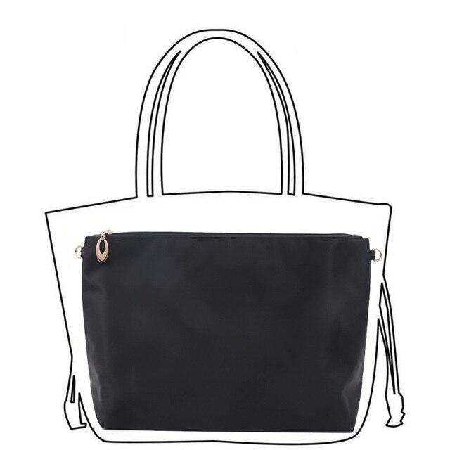 Black Nylon Bag Insert Organizer With Zipper Pockets Tote Bag Organize 1bf7641388b6