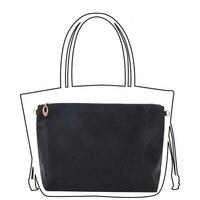 Black Nylon Bag Insert Organizer With Zipper Pockets Tote Bag Organize Portable Purse Bags Organizador Bolso