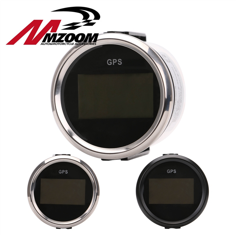 Motorbike Meter Plastic Digital GPS Speedometer Odometer Tachometer Fit For Car Boat With Backlight 12V/24V 100% brand new gps speedometer 60knots for auto boat with gps antenna white color