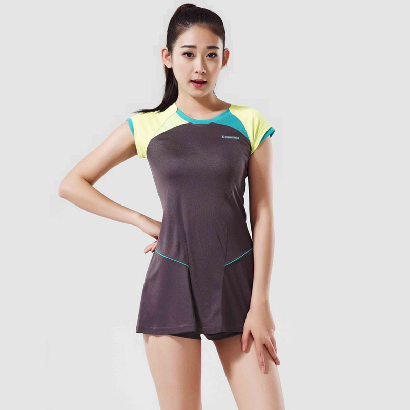 Kawasaki Women Tennis Dress Authentic Quick Dry Clothing Badminton Sport Dress have Safety Short Pants mario tennis open