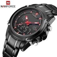 NAVIFORCE Top Luxury Brand Men S Quartz Watches Full Steel LED Analog Digital Military Sport Watch