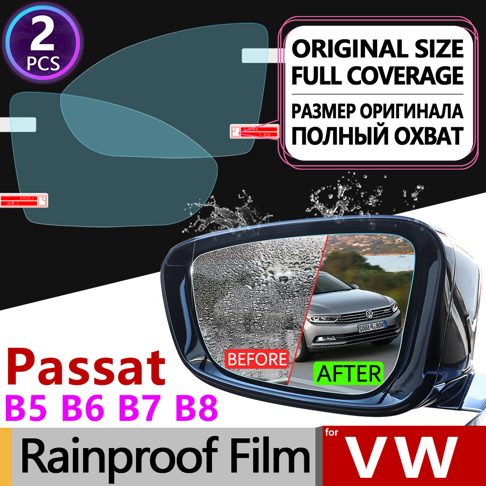 For Volkswagen VW Passat B5 B5.5 B6 B7 B8 CC 1996-2020 Full Cover Anti Fog Film Rearview Mirror Rainproof Anti-fog Accessories