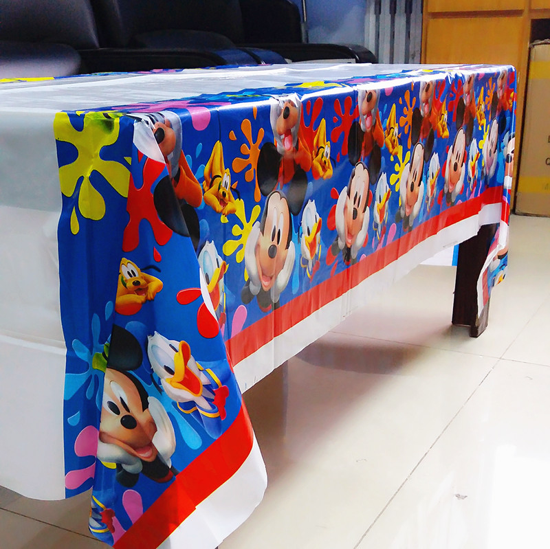 108 cm * 180 cm mickey mouse fuentes del partido mantel favor kids boy manteles