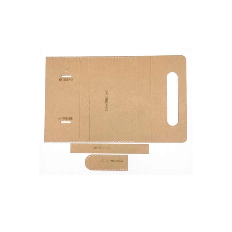 1 комплект DIY кожа ручной работы женская сумочка кошелек швейный узор Твердые крафт бумажные трафареты 220x120x25 мм