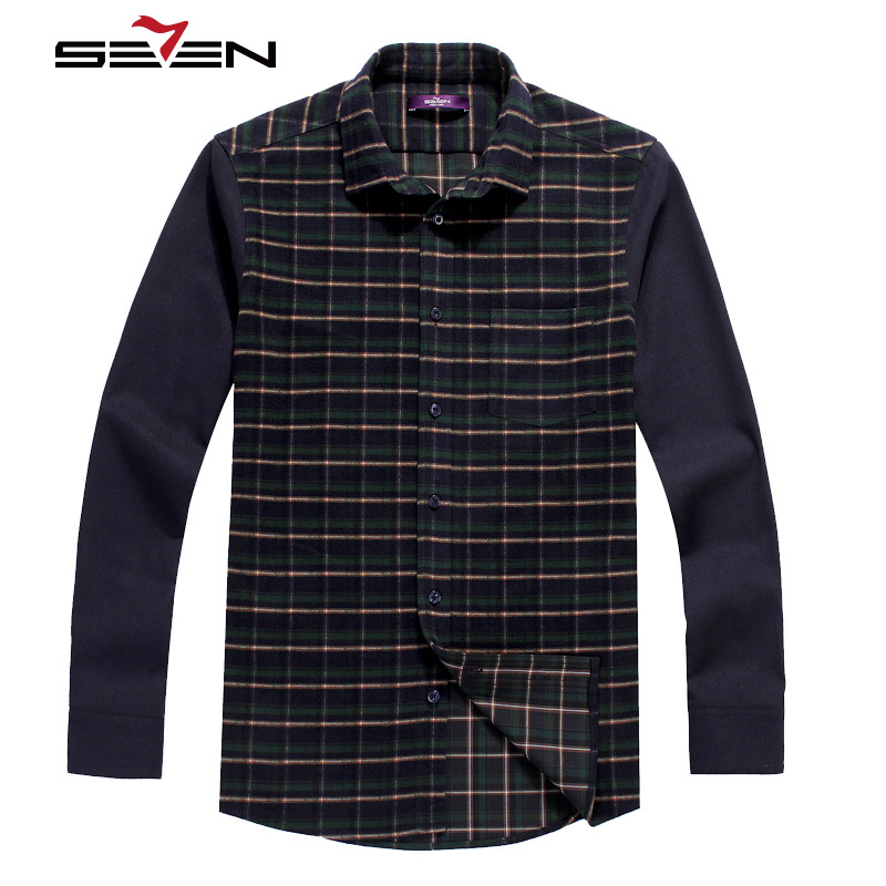 Seven7 Brand High Quality Men Button Down Shirts Long Sleeve ...