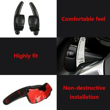 Car Steering Wheel Shift Paddle Extension Auto DSG Direct Shift Gear For Golf Jetta MK6 R20 CC R36 Car Parts dsg carbon fiber steering wheel shift gear paddle extension shifter extended fit for mazda 3 6 cx3 cx4 cx5 mx5 accessories