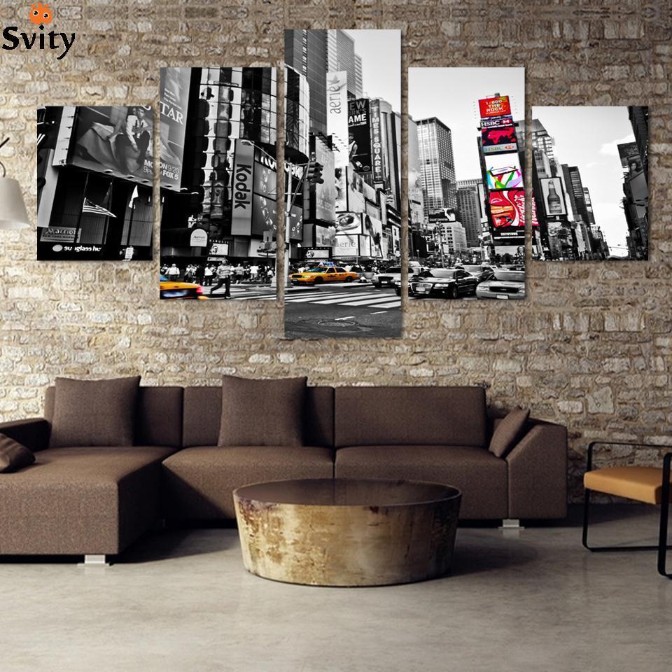 ef5897aa9 مدينة لوحات ديكور قماش طباعة الصورة الحديثة على قماش غير المؤطرة pintura  مطبوعة قماش جدار صور لغرفة المعيشة