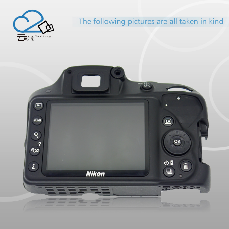 D3300 Rear Back Cover With LCD And Key Button Repair Parts For Nikon d7000 rear back cover shell with lcd button fpc for nikon d7000 for nikon