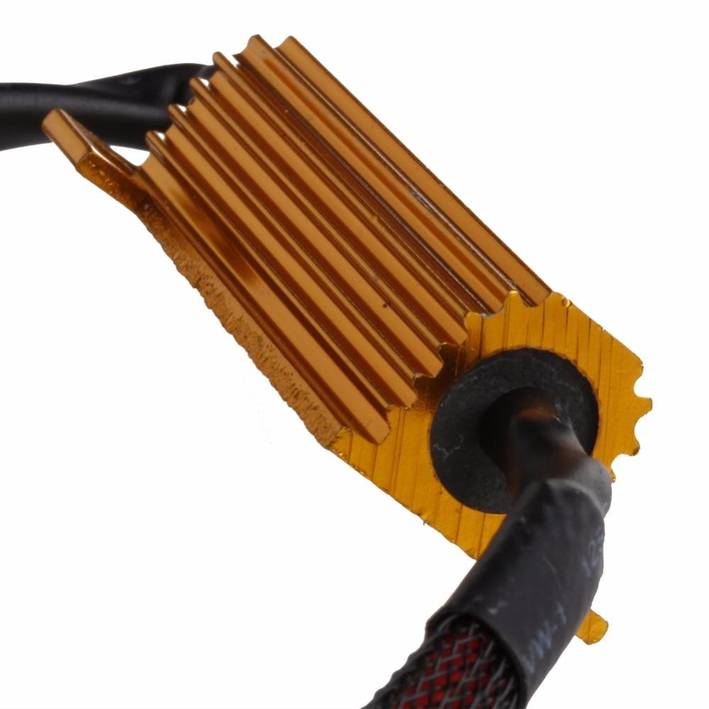 Hngchoige 2pcs H8 H11 Led Light Canbus Load Resistor Flicker Wiring Harness Decoders Warning Canceler Car Electronics