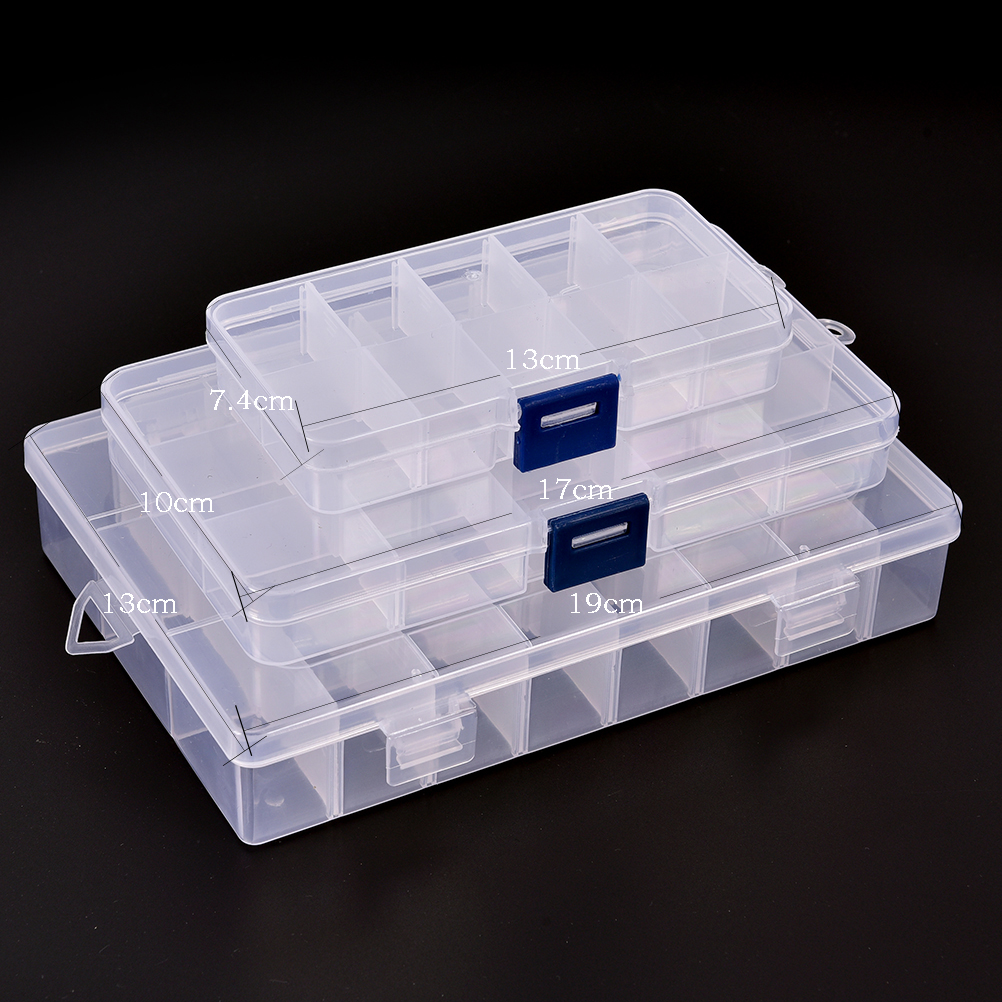 151024 Slots Adjustable Jewelry Storage Box Case Storage Container