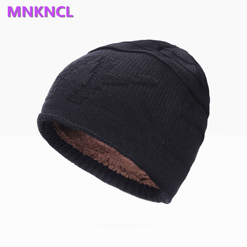 2017 New Winter Skullies Beanies For Men Women Hedging Cap Knit Knitting Caps Internal Plush Bonnet Hat Fashion Keep Warm winter women hedging skullies beanies knitting caps bonnet double layer cotton knitted hat lace cap