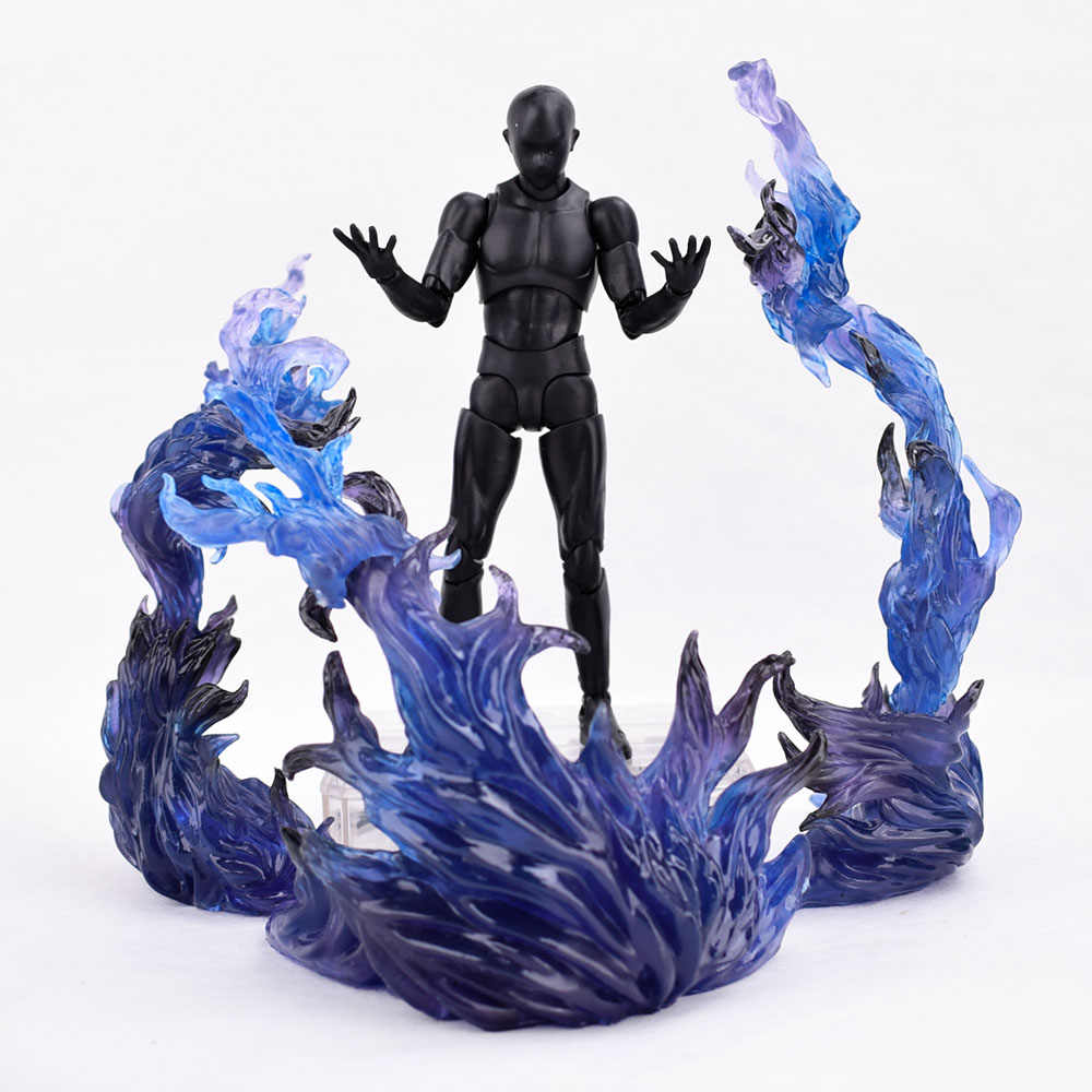 S.H.Figuarts Tamashii EFFECT BURNING FLAME Fix Figma Action Figure Toys Black