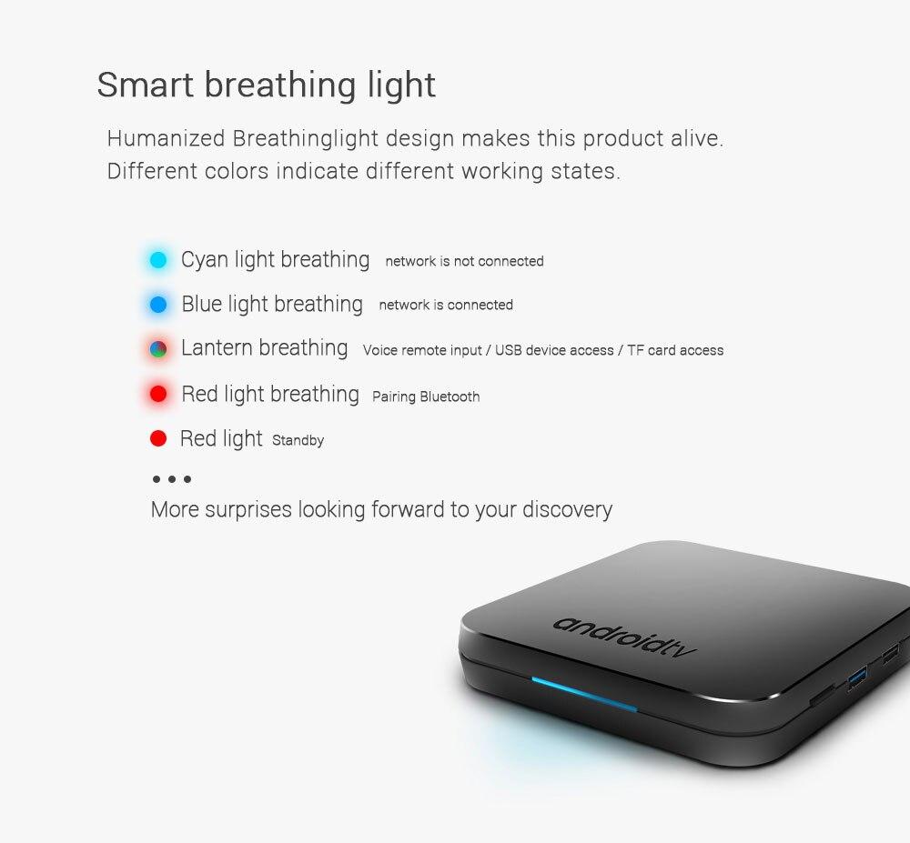 2019 MECOOL KM9 Android 8.1 Tv box 4G 32G Rom Amlogic S905X2 boîtier de smart Tv 2.4/5G wifi via Smart respiration lumière/3D BOX Graphique