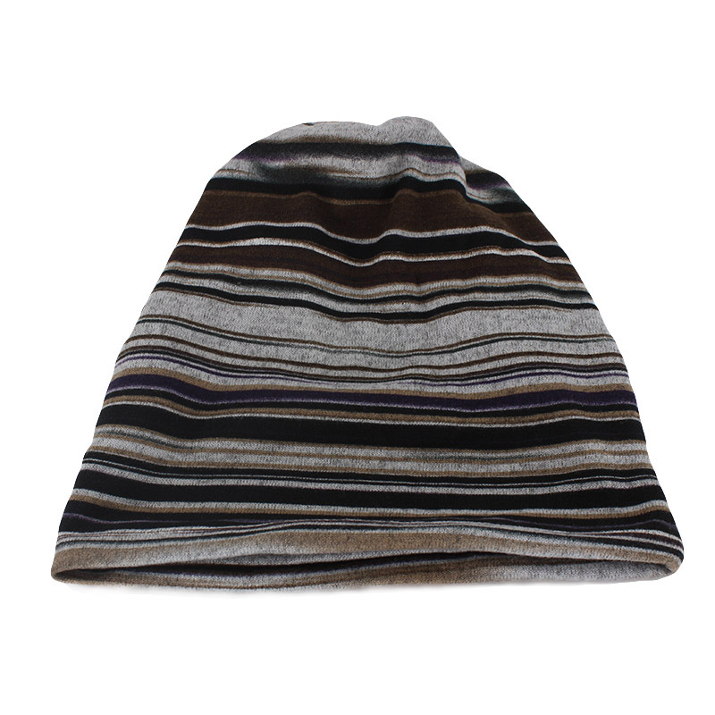 Women Striped Spring Autumn Warm Hat Scarf Two Used Casual Bonnet Hip Hop Color Hats