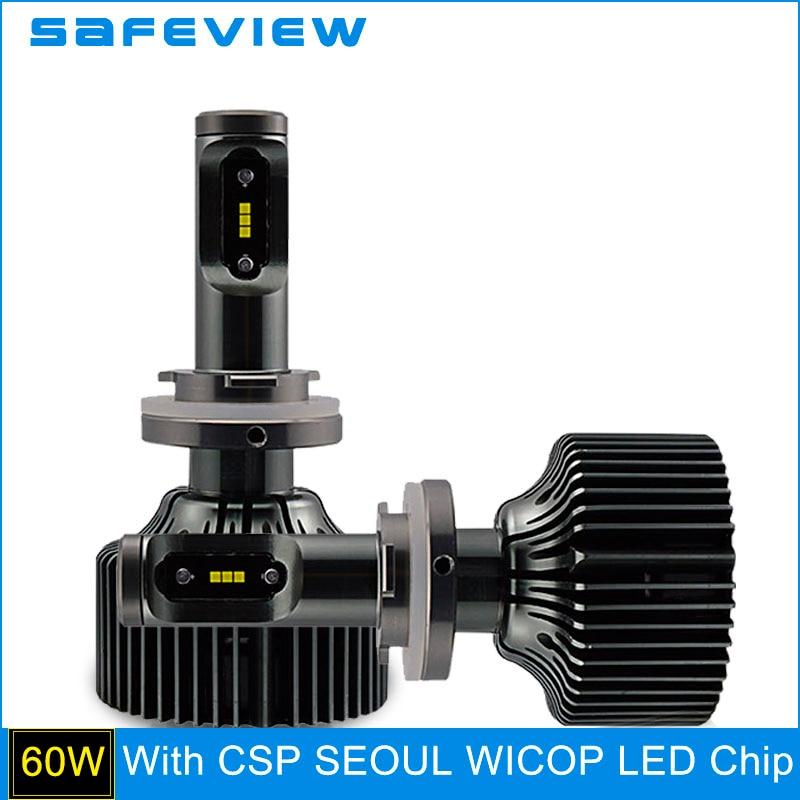 ФОТО SAFEVIEW 2PCS 5000K 6000K 12V 30W 4200LM LED H15 Car Headlight Bulbs Waterproof LED Lamp for CSP Chip