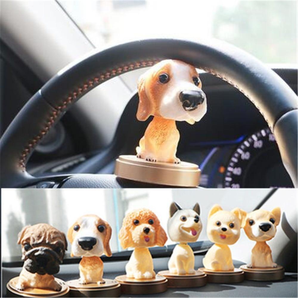Car Ornament Nodding Dog Air Freshener Auto Perfume Decoration Bobblehead Dog Dash Toy Car Rocking Shaking Head Dog Air Purifier
