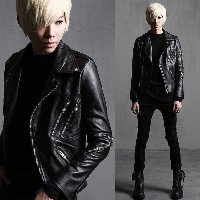 2016 fashion slim oblique zipper motorcycle winter PU font b leather b font font b jacket