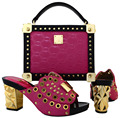Italian Shoe and Bag Set Women Shoe and Bag To Match for Party Ladies Matching Shoe and Bag Italy Italy Shoe and Bag Set MWU1-19
