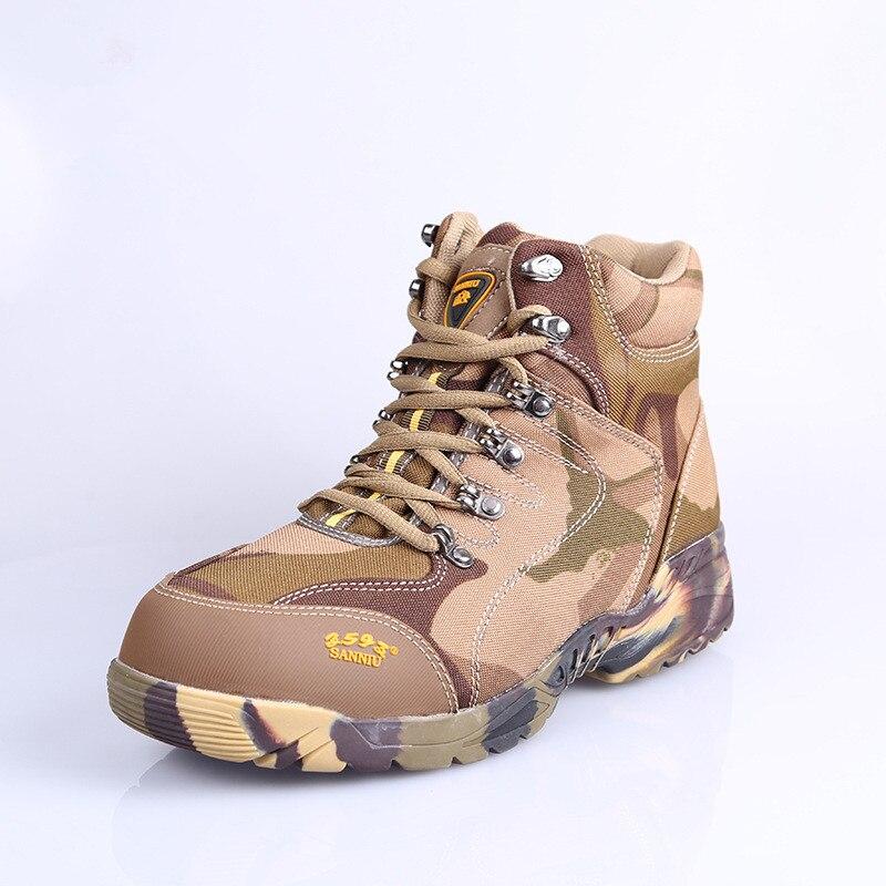 Taille haute Camouflage travail formation chaussures laine froid et chaud bottes d'hiver en plein air une bataille terrestre tactique travail bottes manteau un