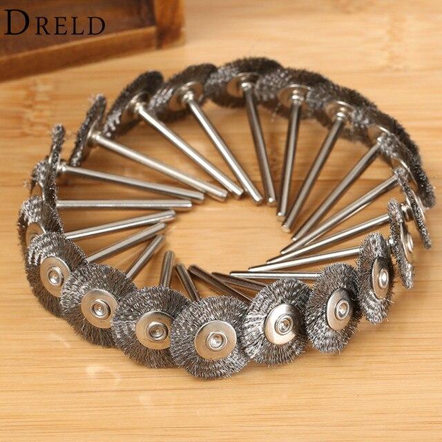 Accessoires Dremel, brosse rotative en acier, brosses à fil dremel pour meuleuse, 22mm, 10 pièces