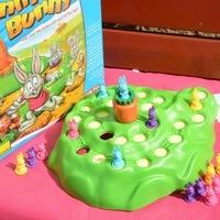 Plastic toy baby birthday gift desktop funny bunny rabbit run game family fun parent-child interactive educational