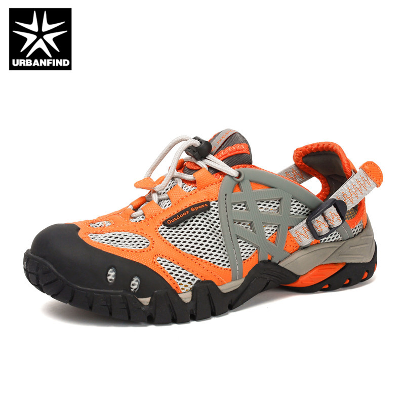 URBANFIND Brand Men Summer Mesh Sandals Plus Size 35 47 Unisex Style Male Female Breathable Casual