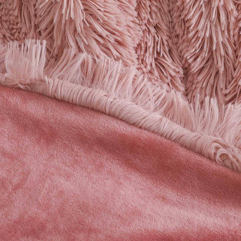 Yatak kanepe battaniyesi Hediye Süper Yumuşak Uzun Tüylü Bulanık Kürk Faux Kürk Sıcak Zarif Rahat Kabarık Sherpa Atmak Battaniye