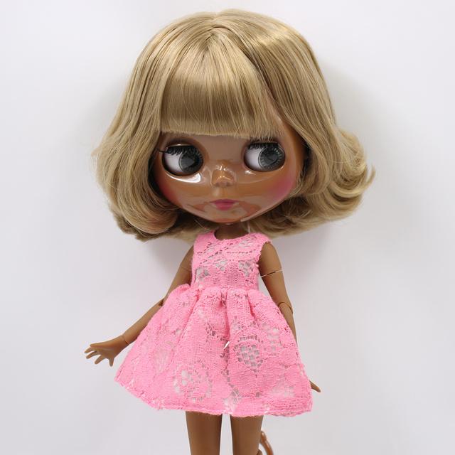 Ella - Преміальна лялька Blythe з повним вбранням глянцеве миле обличчя