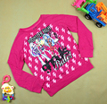 Wholesale-Spring Autumn Kids Clothing Baby Girls T Shirt Kids Long Sleeve 100% Cotton Cartoon Girl's Letter T-shirts
