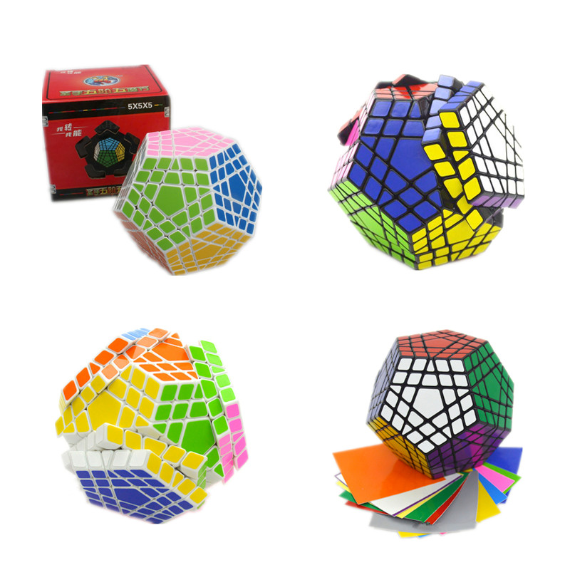 2016 Shengshou New 5x5x5 Gigaminx Magic Cube Puzzle Black and White Speed Cube Learning&Educational Cubo Magico Toys As A Gift dayan bagua magic cube 6 axis 8 rank cube puzzle cubo magico educational toy speed puzzle cubes toys for kid child free shipping