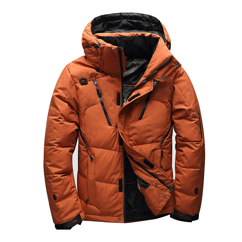 NEW 2018 winter brand down jacket Men Multiple pockets thicken White Duck Down Jackets Down Parkas male coats clothing exclaim двойное колье цепочка с подвесками