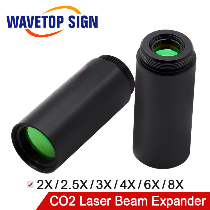WaveTopSign CO2 Laser Beam Expander Fixed Series JG 10.6 2X 2.5X 3X 4X 6X 8X Galvanometer use For CO2 Laser Mark Machine