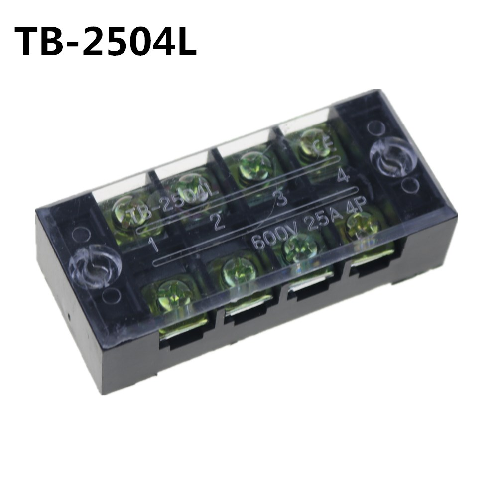 2PCS 600V 25A 4 Position Electric Terminal Block Strip Cable Connector TB  2504-in Terminal Blocks from Home Improvement on Aliexpress.com | Alibaba  Group