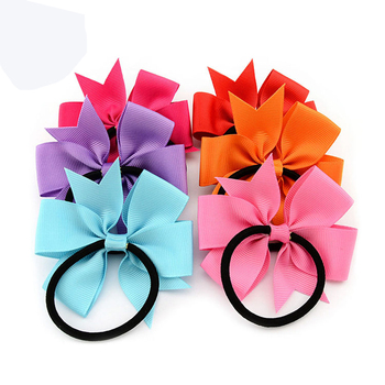 10pcs/lot Cute Bow Girls Headband Ribbon Bow Elastic Hair Bands Rope Headwear Hair Accessories acessorio para cabelo Hair Ties