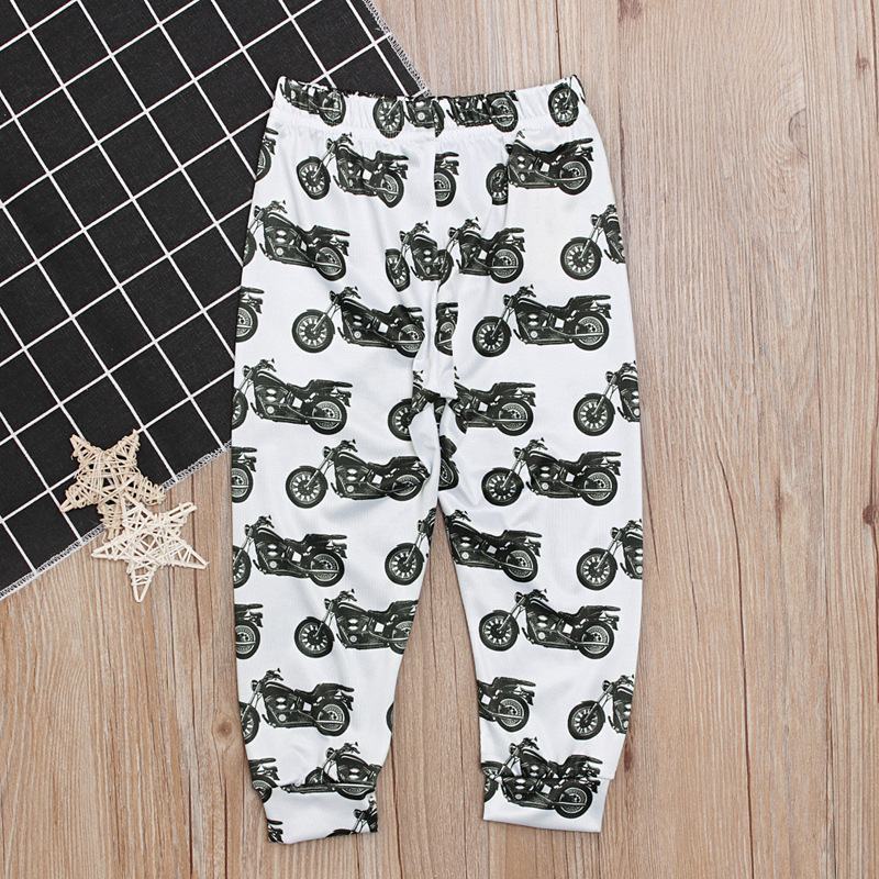 Spring Fall Mother And Son Matching Clothes Casual Print Cotton Mom Baby Boys Clothing Sport Pants Family Costumes Outfits W025 in Matching Family Outfits from Mother Kids