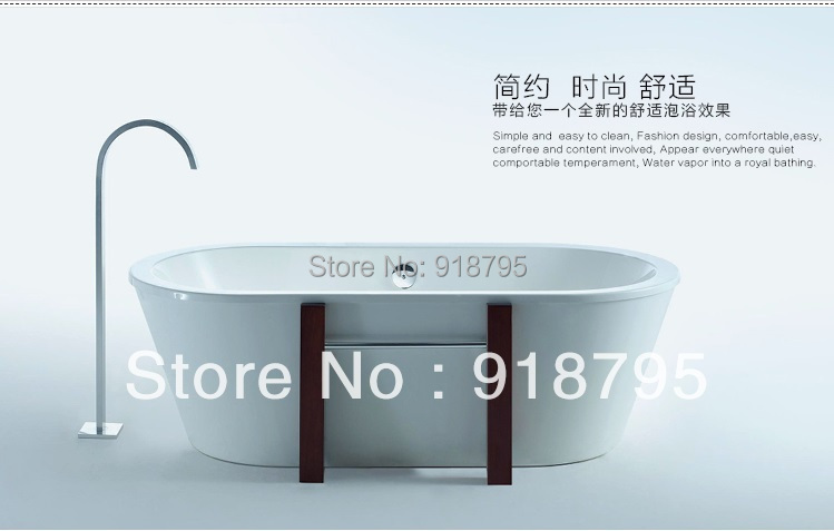 все цены на Fiber glass New Model freestanding Soaking bathtub with Wood support indoor spa 6502C онлайн