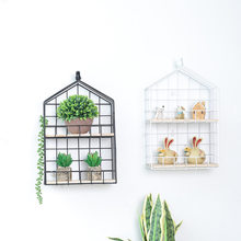 Nordic Bird Cage Wall Shelf Shelves Wall Decor Crafts Figure For Wall Decoration Living Room Bedroom Home Storage Organization(China)