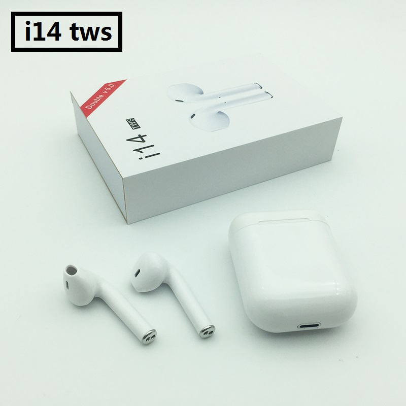 2019 <font><b>original</b></font> <font><b>i14</b></font> <font><b>TWS</b></font> 1:1 wireless Bluetooth 5.0 earphone green earbuds touch for Xiaomi airdot PK i13 i10 i12 i88 i9s image